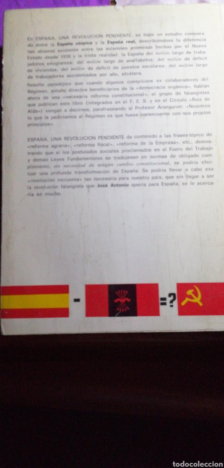 Libros de segunda mano: ESPAÑA UNA REVOLUCIÓN PENDIENTE DE SIGFREDO HILLERS DE LUQUE - Foto 2 - 219547326
