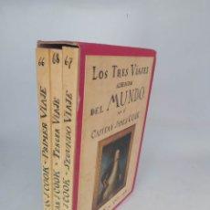 Libros de segunda mano: LOS TRES VIAJES ALREDEDOR DEL MUNDO POR EL CAPITÁN JAMES COOK. Lote 220846211