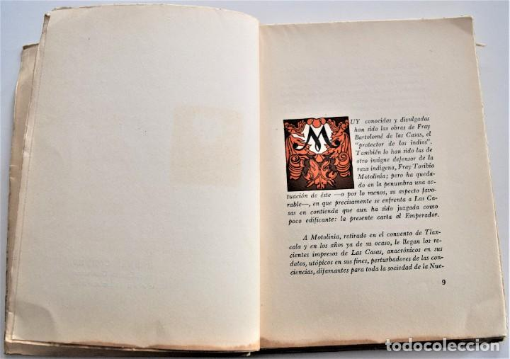 Libros de segunda mano: CARTA AL EMPERADOR, REFUTACIÓN A LAS CASAS SOBRE COLONIZACIÓN - MOTOLINIA - EDITORIAL JUS AÑO 1949 - Foto 4 - 221455048