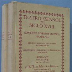 Libros de segunda mano: TEATRO ESPAÑOL DEL SIGLO XVIII. JOSEPH MARIA SALA. 2 TOMOS. Lote 221496086