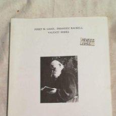 Libros de segunda mano: RUPERT M DE MANRESA PENSADOR EN TEMPS DE CRISI. Lote 221496231