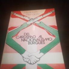 Libros de segunda mano: DEL CARLISMO AL NACIONALISMO BURGUÉS.BELTZA.EDITORIAL TXERTOA.SAN SEBASTIÁN 1978.. Lote 221723737