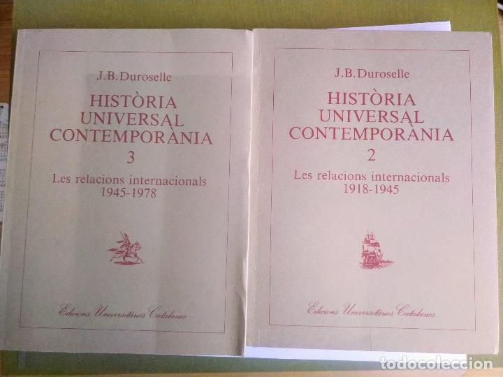 HISTÒRIA UNIVERSAL CONTEMPORÀNIA. J.B. DUROSELLE (Libros de Segunda Mano - Historia Moderna)