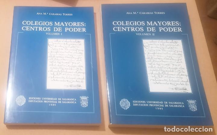 ANA MARÍA CARABIAS TORRES, COLEGIOS MAYORES: CENTROS DE PODER, 2 TOMOS, 1986 (Libros de Segunda Mano - Historia Moderna)