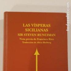 Libros de segunda mano: LAS VÍSPERAS SICILIANAS DE STEVE RUNCIMAN. Lote 224811861