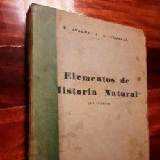 Libros de segunda mano: ANTIGUO LIBRO DE ELEMENTOS DE HISTORIA NATURAL - 6º CURSO. Lote 229118370
