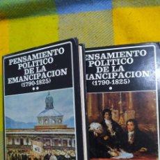Libros de segunda mano: PENSAMIENTO POLÍTICO DE LA EMANCIPACIÓN (1790-1825).. Lote 230296540