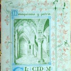 Libros de segunda mano: EL CID Y CARDEÑA - P. DOM. JESÚS ALVAREZ. Lote 231567045