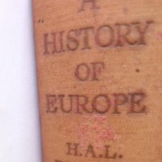 Libros de segunda mano: A HISTORY OF EUROPE 1714-1937 VOLUME II. FROM THE BEGINNING OF THE 18TH CENTURY TO 1937. Lote 231791590