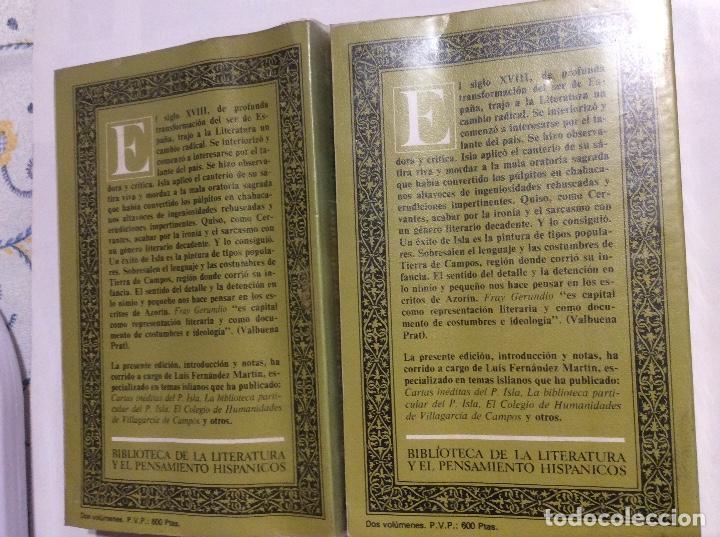 Libros de segunda mano: HISTORIA DEL FAMOSO PREDICADOR FRAY GERUNDIO DE CAMPAZAS PADRE ISLA 2 TOMOS COMPLETA - Foto 2 - 232242725