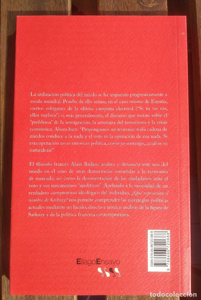 Libros de segunda mano: ¿Qué representa el nombre de Sarkozy? Alain Badiou - Foto 2 - 236902110