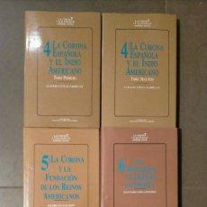 Libros de segunda mano: LOTE DE 5 LIBROS DE LA COLECCION LA CORONA Y LOS PUEBLOS AMERICANOS 24 X 16 X 2,8. Lote 237579305
