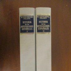 Livros em segunda mão: HISTORIA DE LOS HETERODOXOS ESPAÑOLES. TOMO 1 Y 2. MARCELINO MENÉNDEZ PELAYO. BAC.. Lote 242214040