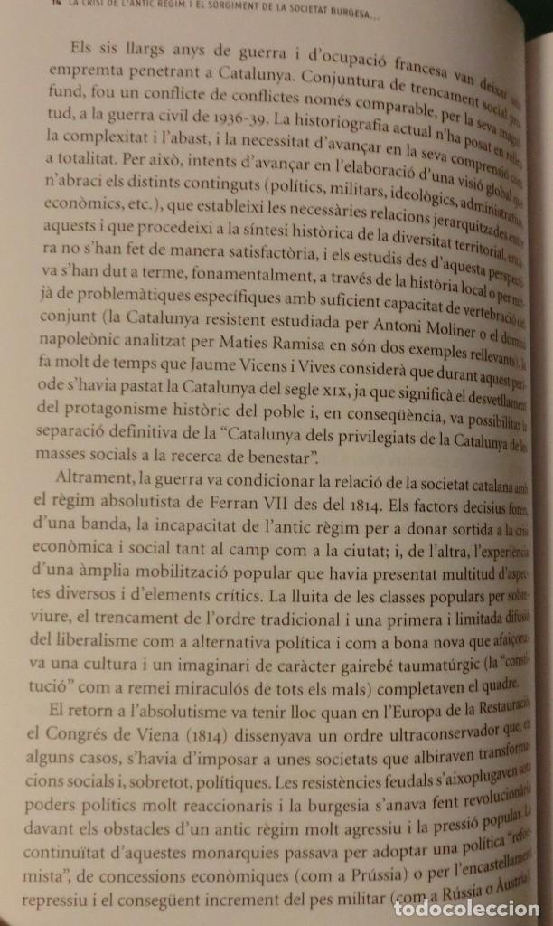 Libros de segunda mano: HISTÓRIA DE LA CATALUNYA CONTEMPORANIA.DE LA GUERRA DEL FRANÇÉS AL NOU ESTATUT(NOU)[DESCATALOGAT] - Foto 6 - 243764150