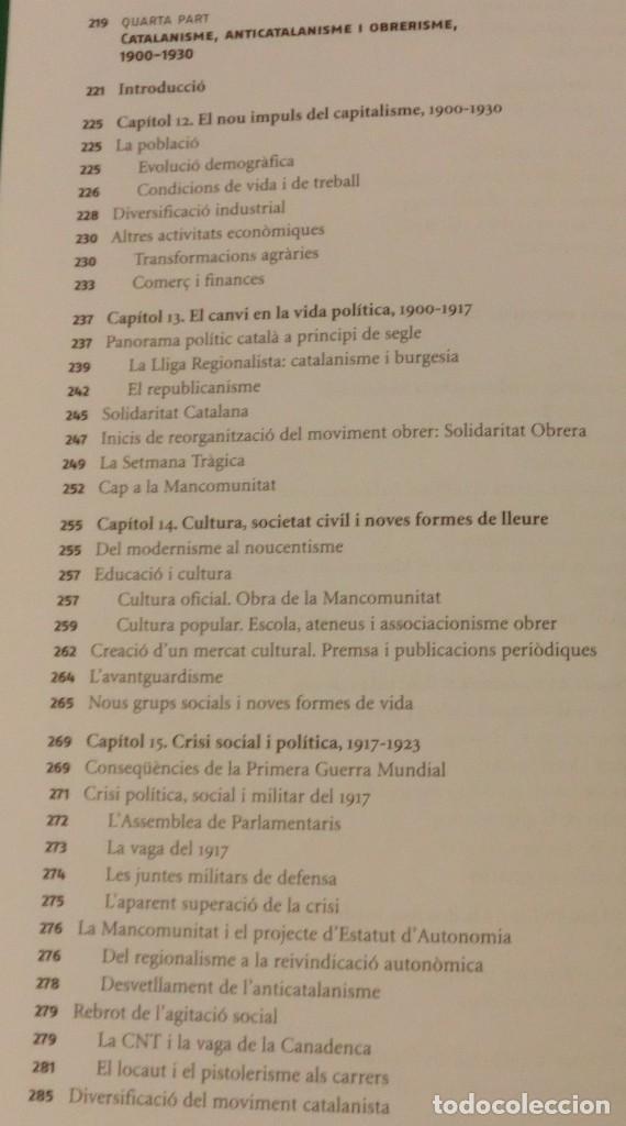 Libros de segunda mano: HISTÓRIA DE LA CATALUNYA CONTEMPORANIA.DE LA GUERRA DEL FRANÇÉS AL NOU ESTATUT(NOU)[DESCATALOGAT] - Foto 14 - 243764150
