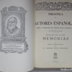Libros de segunda mano: MEMORIAS DEL PRINCIPE DE LA PAZ. Lote 243960800