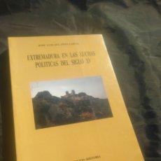 Libros de segunda mano: EXTREMADURA EN LAS LUCHAS POLÍTICAS DEL SIGLO XV. JOSÉ LUIS DEL PINO GARCÍA.. Lote 243973235