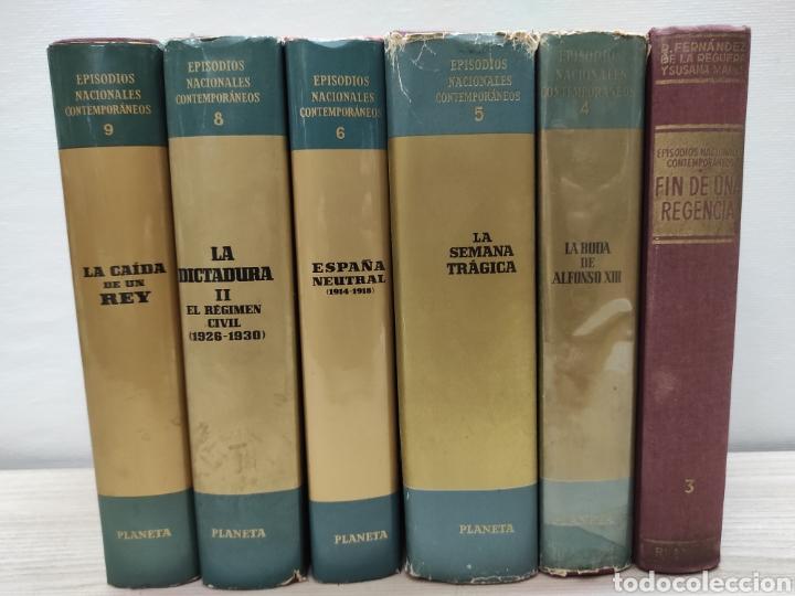 Libros de segunda mano: Lote 6 libros Episodios nacionales contemporáneos - Foto 2 - 244537905
