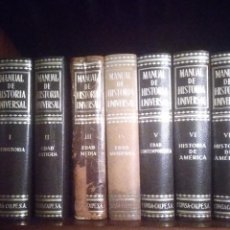Libros de segunda mano: MANUAL DE HISTORIA UNIVERSAL ESPASA CALPE. Lote 244932245