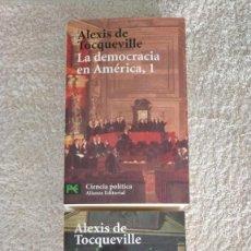 Libros de segunda mano: LA DEMOCRACIA EN AMERICA I Y II ALEXIS DE TOCQUEVILLE 17,9 X 11 X 3,5. Lote 251632160
