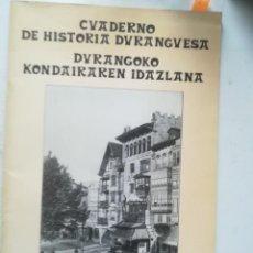Livros em segunda mão: EUSKADI. DURANGO. CUADERNO DE HISTORIA DURANGUESA 1983. Lote 255593475