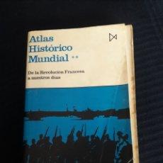 Libros de segunda mano: ATLAS HISTÓRICO MUNDIAL. DE LA REVOLUCIÓN FRANCESA A NUESTROS DÍAS. HERMANN KINDER.. Lote 258161600