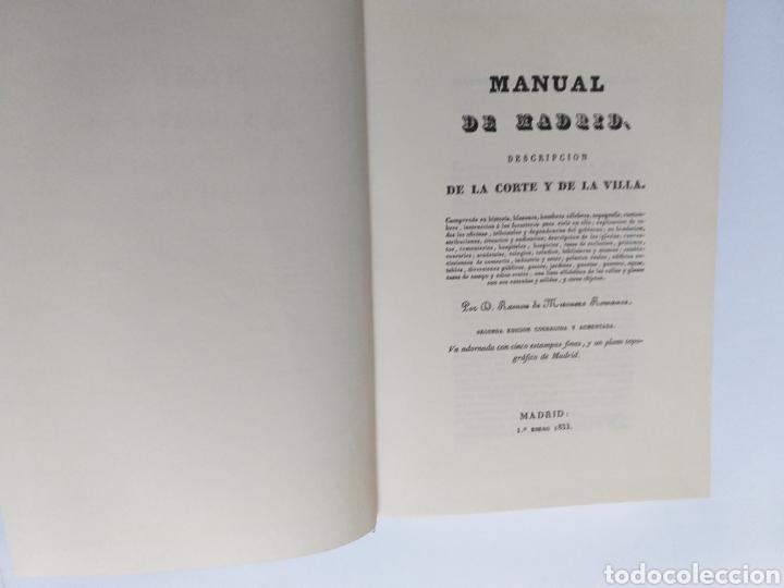 Libros de segunda mano: Manual de Madrid descripción de la corte y de la villa Mesonero Romanos. 1990 . .. historia arte XIX - Foto 10 - 261611610