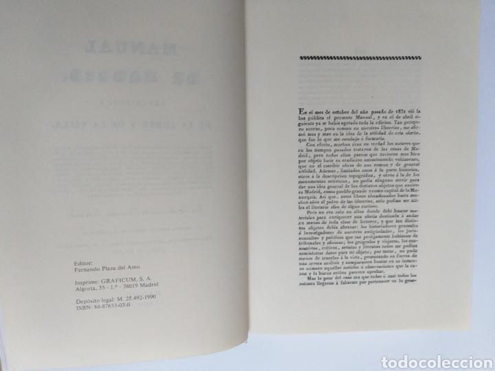 Libros de segunda mano: Manual de Madrid descripción de la corte y de la villa Mesonero Romanos. 1990 . .. historia arte XIX - Foto 11 - 261611610