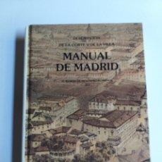Libros de segunda mano: MANUAL DE MADRID DESCRIPCIÓN DE LA CORTE Y DE LA VILLA MESONERO ROMANOS. 1990 . .. HISTORIA ARTE XIX. Lote 261611610