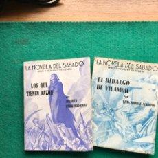 Libros de segunda mano: LA NOVELA DEL SÁBADO, 1939. 2 LIBROS DE PÉREZ MADRIGAL Y MOURE MARIÑO. GUERRA CIVIL. Lote 262297370