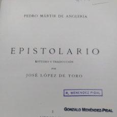 Livres d'occasion: EPISTOLARIO MÁRTIR DE ANGLERÍA 4 TOMOS MADRID 1953-1956. Lote 267460369