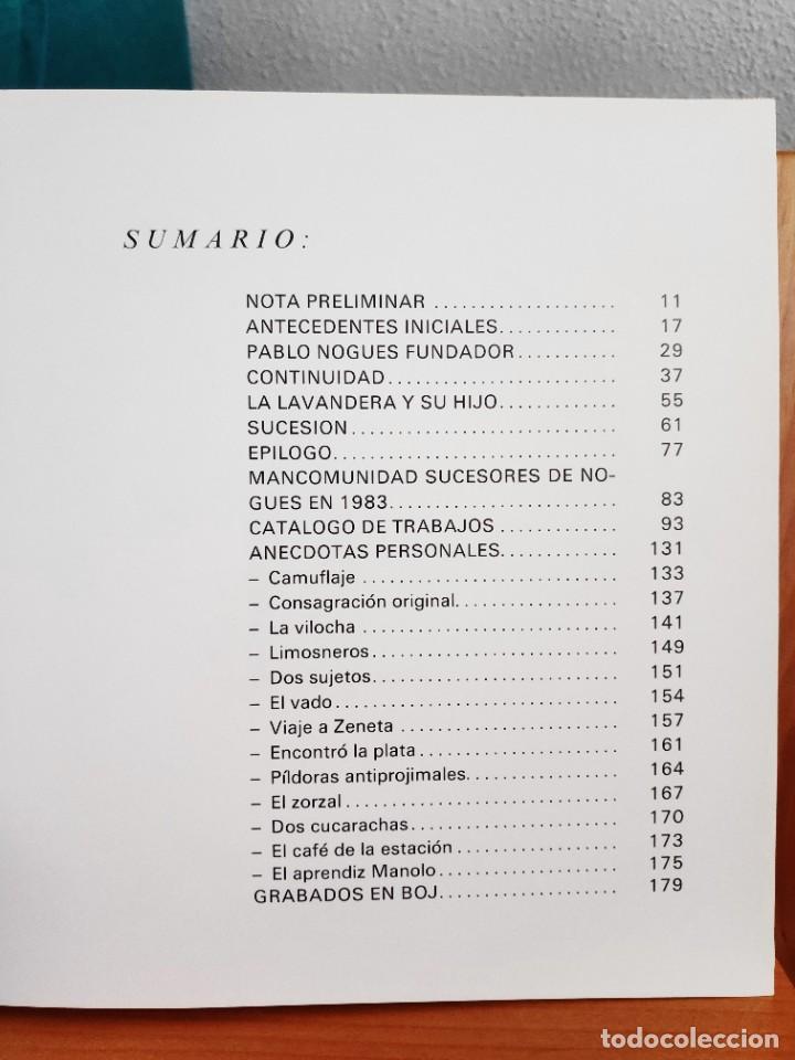 Libros de segunda mano: Nogués Reseña histórica de una empresa murciana, 1983 - Foto 5 - 268741784