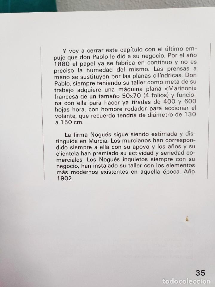 Libros de segunda mano: Nogués Reseña histórica de una empresa murciana, 1983 - Foto 9 - 268741784