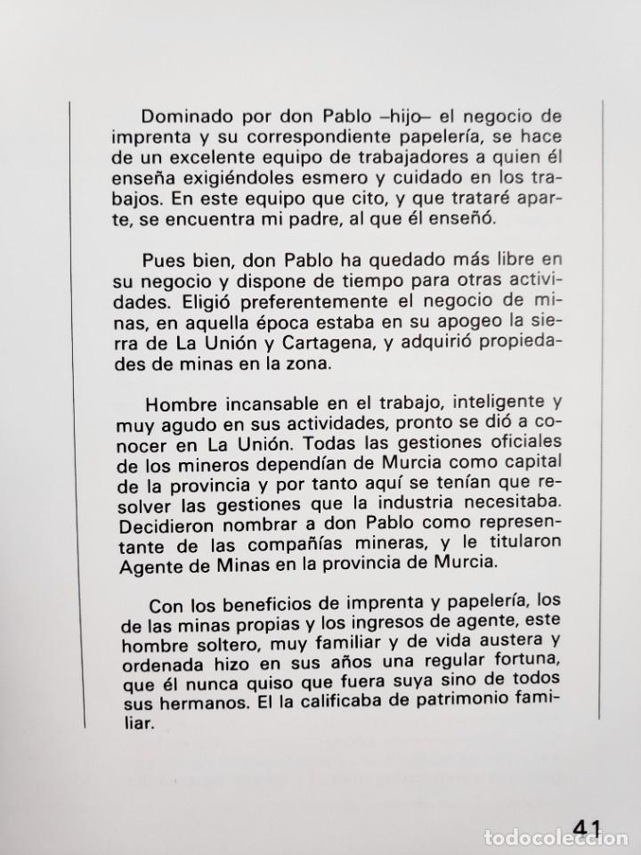 Libros de segunda mano: Nogués Reseña histórica de una empresa murciana, 1983 - Foto 10 - 268741784