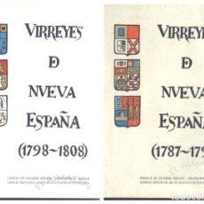 Libros de segunda mano: VIRREYES DE NUEVA ESPAÑA EN EL REINADO DE CARLOS IV 1787-98/ 1798-1808. DOS VOLÚMENES (1972) SIN USO. Lote 270401103