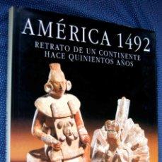 Libros de segunda mano: AMERICA 1492 RETRATO DE UN CONTINENTE HACE 500 AÑOS-MANUEL LUCENA SALMORAL. EDITORIAL ANAYA.. Lote 271702378