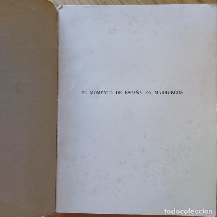Libros de segunda mano: El momento de España en Marruecos, Enrique Arques, 1942. Vicesecretaria de Educación Popular - Foto 5 - 275912793