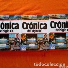 Libros de segunda mano: 1994 CRONICA DEL SIGLO XX COLECCION D TRES TOMOS, ESTA NUEVA, ENCUAD. EN PIEL ROJA CON SOBRECUBIERTA. Lote 276291098