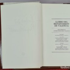 Libros de segunda mano: LLIBRE DEL REPARTIMENT DE VALENCIA. VVAA. VICENT GARCIA EDITORES. 1979.. Lote 276455538