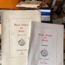 Libros de segunda mano: MAPAS ANTIGUOS DEL MUNDO CARLOS SANZ. Lote 277248438