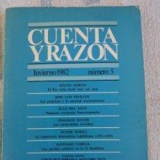 Libros de segunda mano: CUENTA Y RAZÓN NÚMERO 5 INVIERNO 1982. Lote 277742563