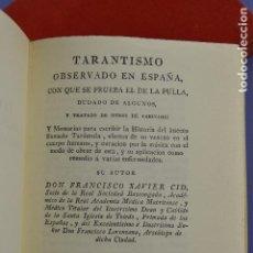 Libros de segunda mano: TARANTISMO OBSERVADO EN ESPAÑA CON QUE SE PRUEBA EL DE LA PULLA, FACSÍMIL, 1972, ED. ECO, MADRID.. Lote 287869098