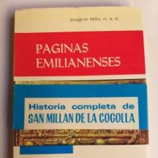 Libros de segunda mano: PÁGINAS EMILIANENSES JOAQUÍN PEÑA. Lote 287869418