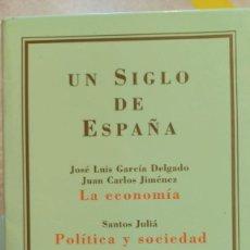 Libros de segunda mano: TRILOGÍA UN SIGLO DE ESPAÑA. MARCIAL PONS. LA ECONOMÍA; POLITICA Y SOCIEDAD; LA CULTURA. Lote 288157223