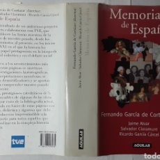 Libros de segunda mano: MEMORIA DE ESPAÑA, RICARDO GARCÍA DE CORTÁZAR Y OTROS. AGUILAR, 2004, 630 PÁGINAS.. Lote 288371703