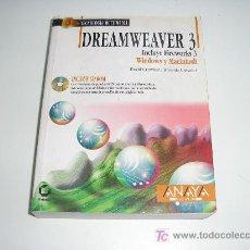 Libros de segunda mano: LIBRO TECNOLOGIA MULTIMEDIA DREAMWEAVER 3 INCLUYE CD-ROM. Lote 14225842