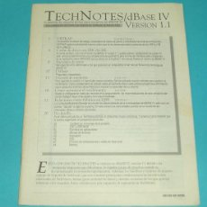 Libros de segunda mano: TECHNOTES DBASE IV VERSION 1.1. ASHTON TATE ( INFORMATICA ). Lote 15270486