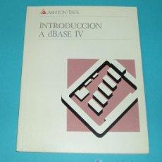 Libros de segunda mano: INTRODUCCIÓN A DBASE IV. ASHTON TATE ( INFORMATICA ). Lote 15270502