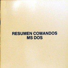 Libros de segunda mano: CUADERNO INFORMATICA RESUMEN DE COMANDOS MS DOS AÑOS 80 29,60 X 21 CM 36 PAGINAS ¡MUY INTERESANTE!. Lote 18649582