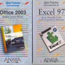 Libros de segunda mano: OFFICE 2003 Y EXCEL 97. Lote 26525059